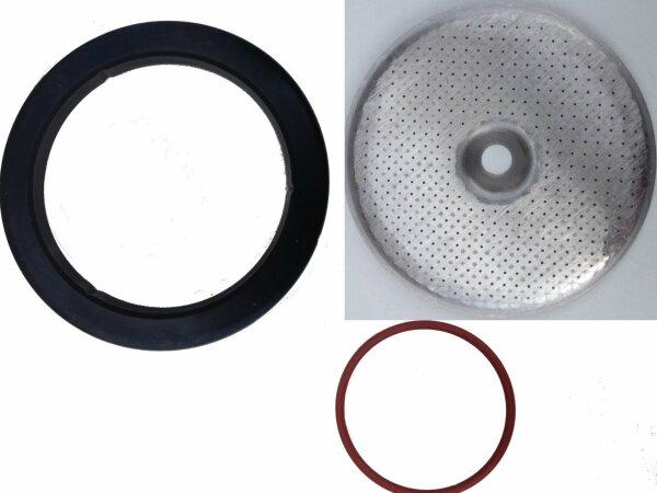 Lelit | Revidierungs-Set aus 2x Brühkopfdichtung, 1x Duschensieb | 58 mm.
